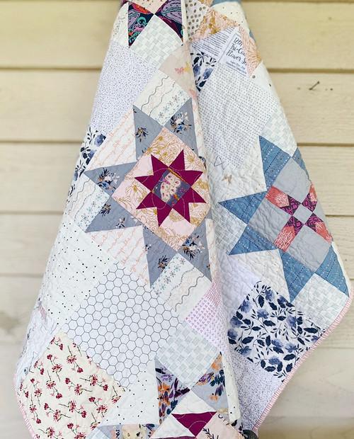 Modern Traditional Quilt - Little Miss Sawtooth