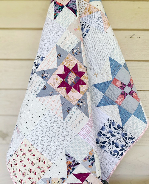 Modern Traditional Quilt - Little Miss Sawtooth