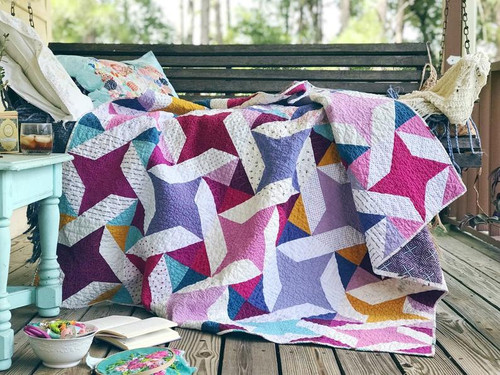 Modern Traditional Quilt - Star Dance