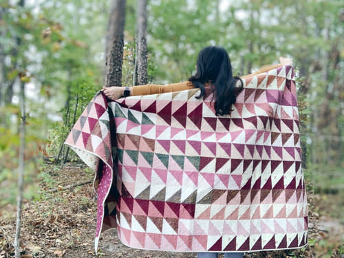 Modern Traditional Quilt - Tea Time in Stardust and Solids - READY TO SHIP