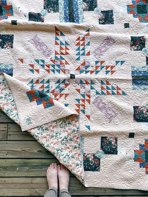 Para Para in Spirited fabrics - Modern Traditional Quilt - READY TO SHIP