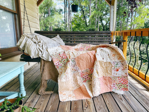 RAG QUILT - Marmalade - Lap Size - READY TO SHIP
