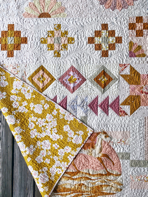 Anthologie Quilt in Summer Haze - Twin Size - READY TO SHIP - quilts for sale