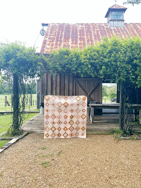 Attic Window Quilt - Sweet Macademia - READY TO SHIP