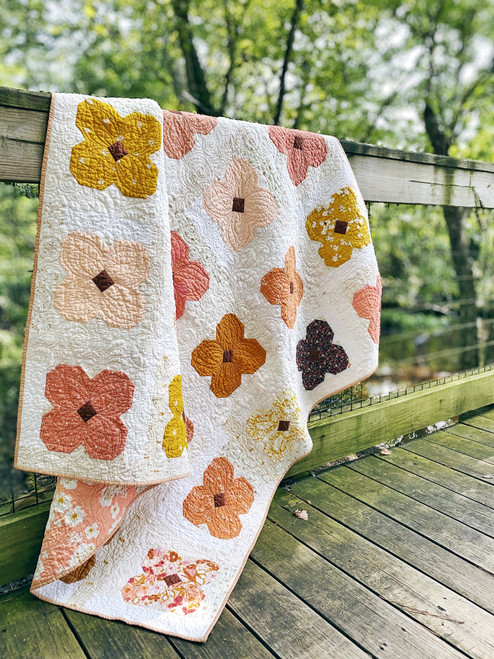 Hello Posy Quilt - Brights - READY TO SHIP