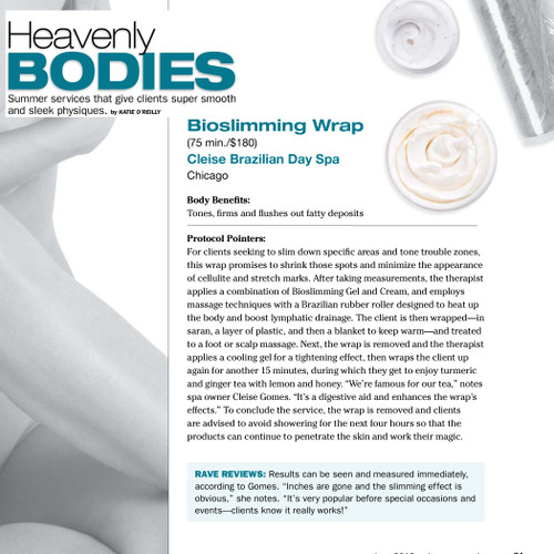 Cleise Day Spa talks about Bioslimming Wrap in the DaySpa Magazine