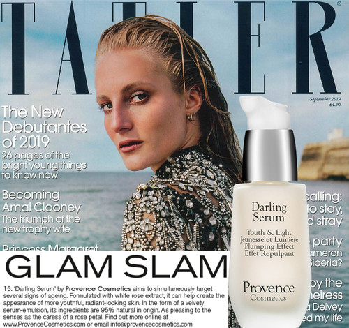 Darling serum in Tatler Magazine