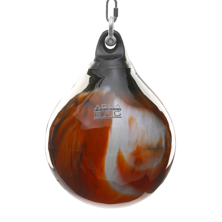 "Aqua Punching Bag 18"" Black/Orange"