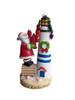 Santa Lobster Lighthouse Ornament