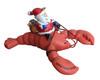 Santa Riding a Lobster Ornament
