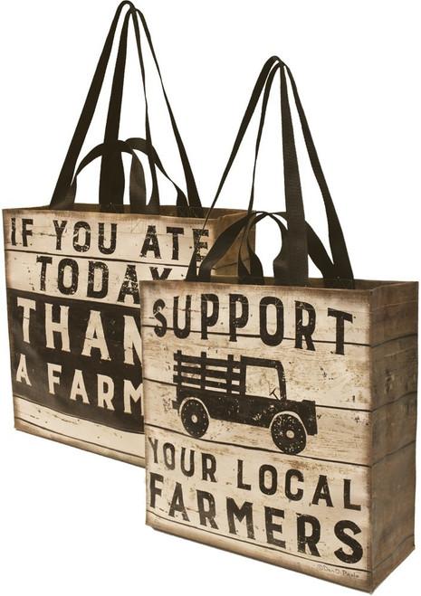 Farmers' Market Nylon Tote Bag - Support Local / Thank a Farmer