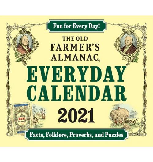 2021 Old Farmer's Almanac Everyday Desk Calendar