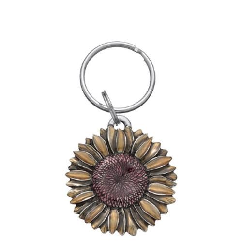 Danforth Pewter Summer Sunflower Keyring
