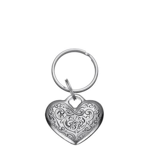 Danforth Pewter Florentine Heart  Keyring