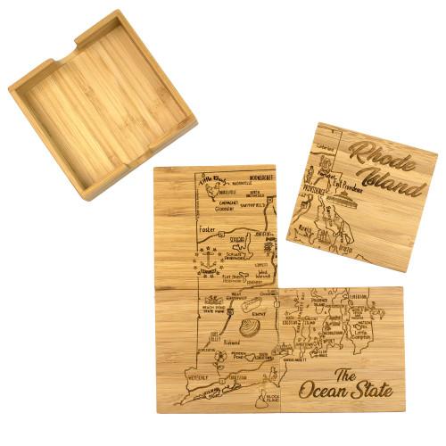 Coaster Puzzle Set/4 Rhode Island