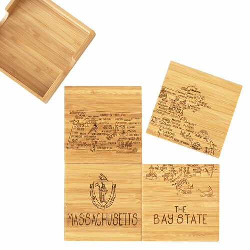 Coaster Puzzle Set/4 Massachusetts