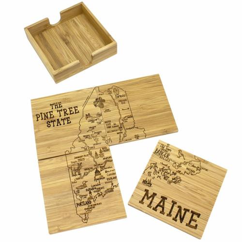 Coaster Puzzle Set/4 Maine