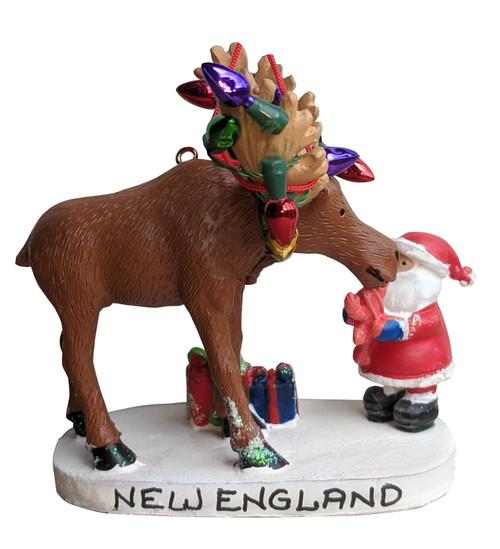 Moose Lobster and Santa Ornament