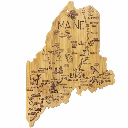 Bamboo made state of Maine, cheese board, wall hanging or decor
