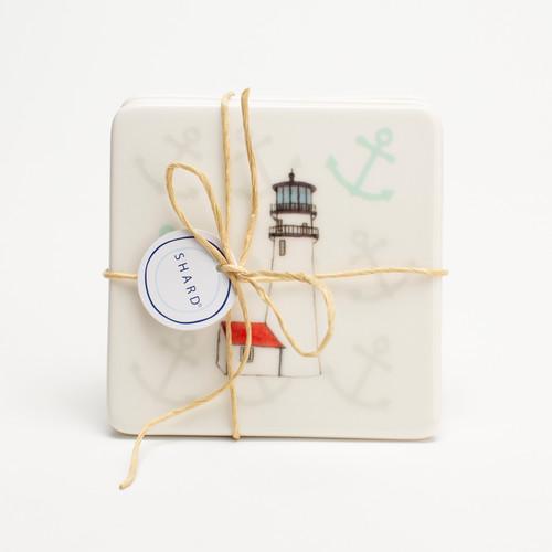 Cape Cod Lighthouse 4 Piece Coaster Set