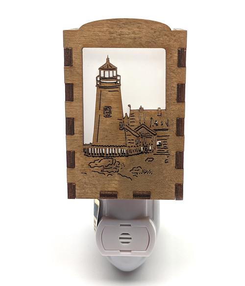 Wooden Night Lights - Pemaquid Lighthouse