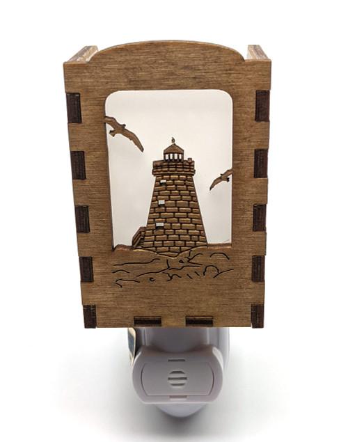 Wooden Night Lights - Saddleback Ledge Lighthouse