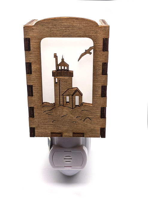 Wooden Night Lights - Goat Island Lighthouse