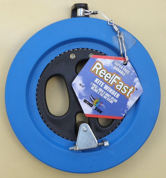 "WNS - ReelFast Kite Winder ""Blue"" / 80# x 500' Nylon"