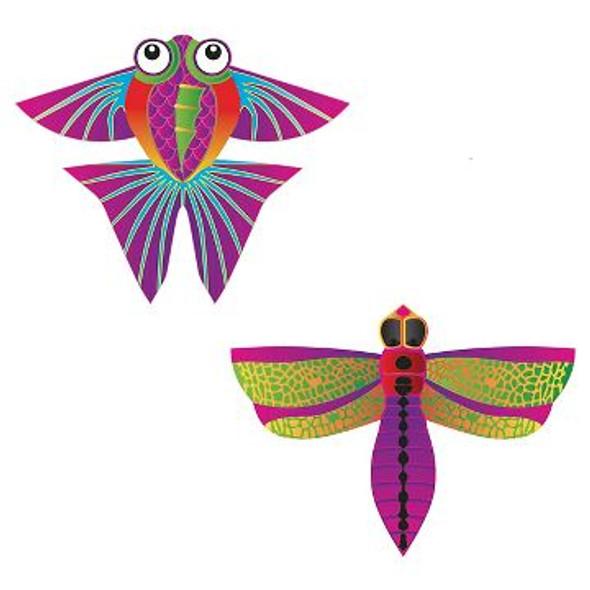 "Xkites - Microkite 2pack ""Dragonfly / Tropical fish """