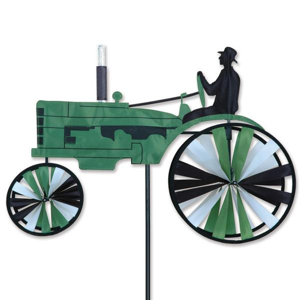 Premier Kites - 23 in. Old Tractor Spinner - Green