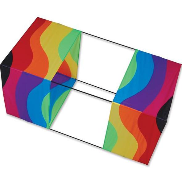 "Premier KItes - 40 in. Box Kite - Wavy Rainbow"""