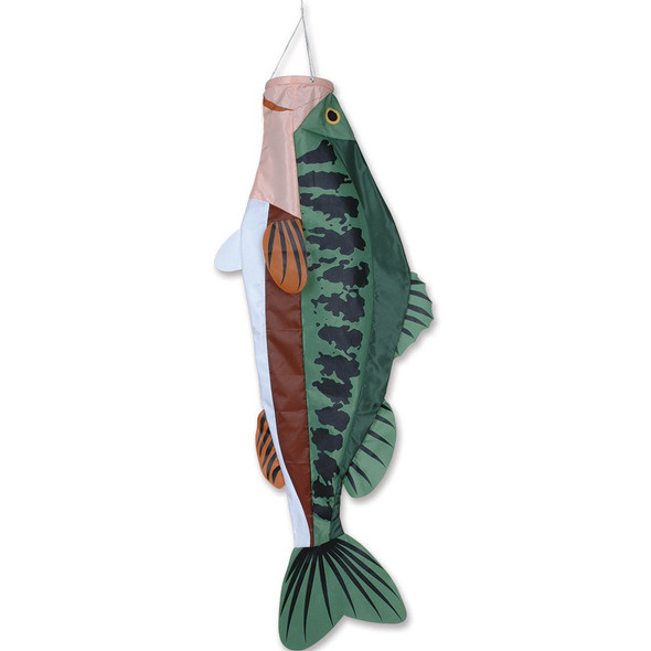 Premier kites - Windsock 52 in. Large Mouth Bass Fish