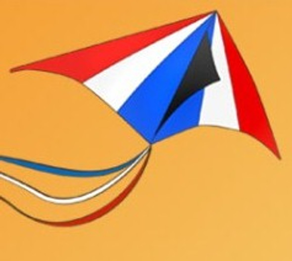 Gomberg kites - Perfect Delta 6'  red/blue/white