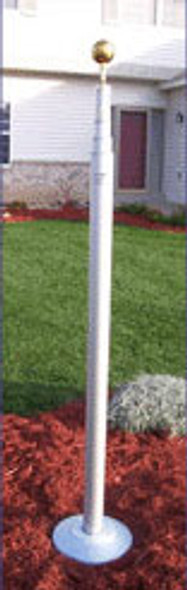 Titan Flag Pole 15' Silver