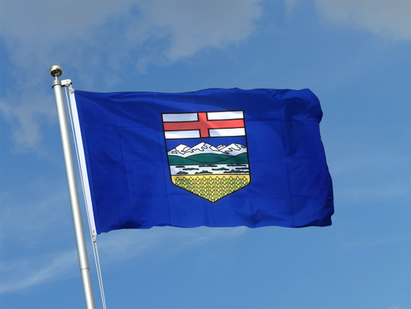 "Alberta Flag 18"" x 36"" Tackle II ""grommets"""
