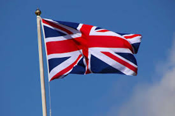 "Union Jack Flag 27"" x 54"" Printed Nylon ""Rope & Toggle"""
