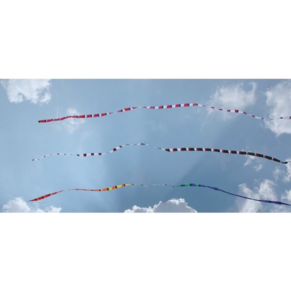 "Premier Kites - 50' Transition tail ""Black/White/Red"""