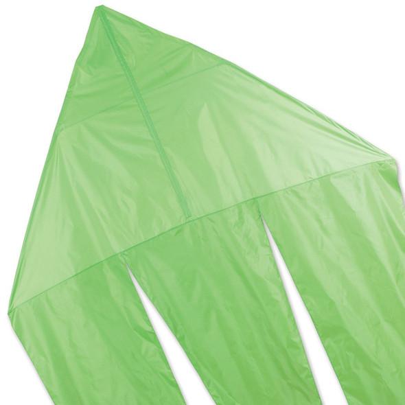 Premier KItes - 6.5 ft. Flo-Tail Delta Kite - Neon Green
