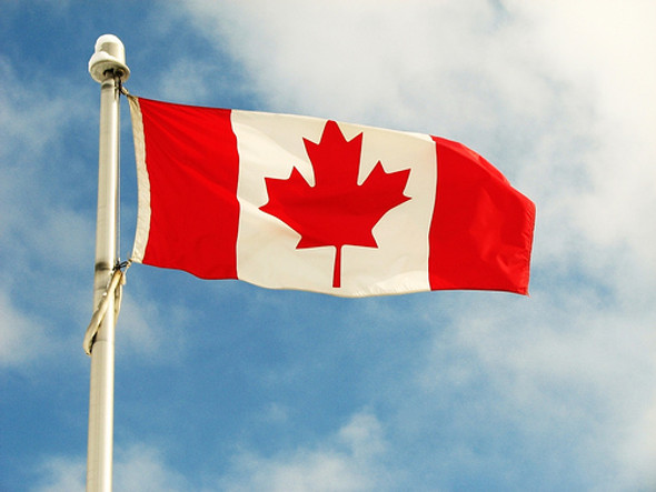 """Flag Matrix - Canada Flag 27"""" x 54"""" knitted polyester"""