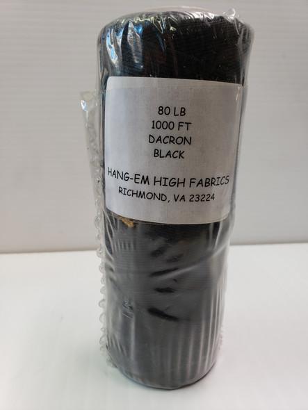 HHF-Braided Dacron Line Black 80# x 1000' bulk