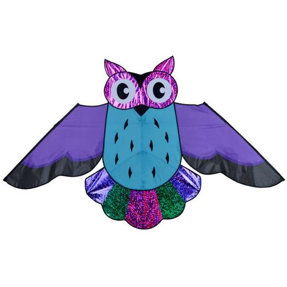 Premier Kites - Owl Kite - 57 in. Holographic Purple