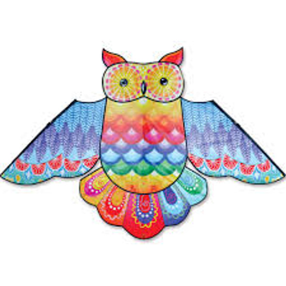 Premier Kites - 70 in. Rainbow Owl Kite