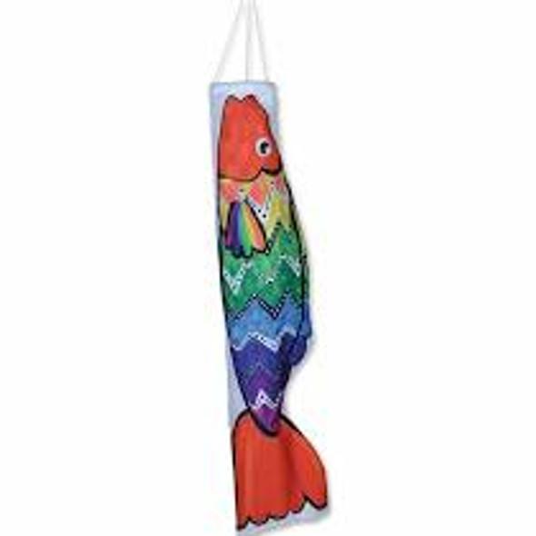 Premier Kites - Koi Windsock - Zigzag Rainbow Fish