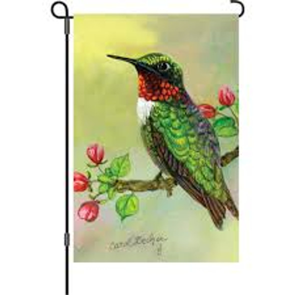 Premier kites - 12 in. Flag - Hummingbird And Apple Buds