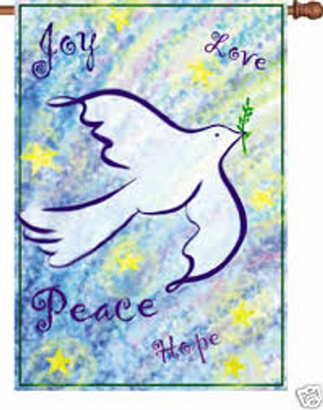 Premier kites - 12 in. Flag - Peace & Joy