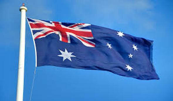 "Australia Flag 36"" x 72"" Tackle II ""rope & toggle"""