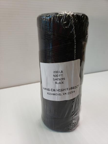 HHF-Braided Dacron Line Black 200# x 500' bulk