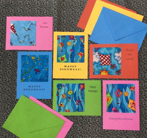 Personalized greeting cards.