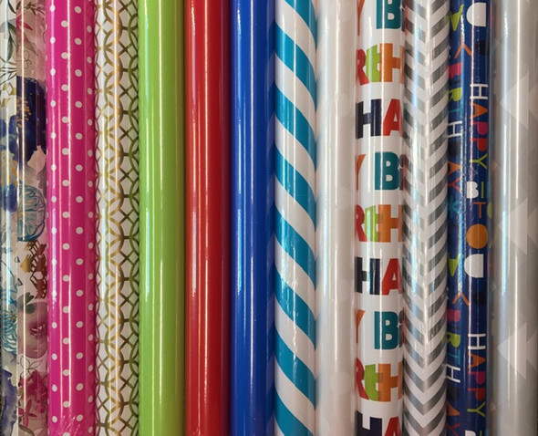 Nice selection of quality gift wrap paper.