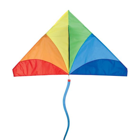Premier kites - 56 in. Delta Kite - Traditional Rainbow (Bold Innovations)